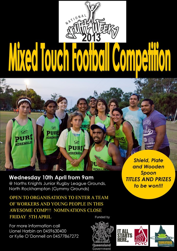 Youth Week Touch Footy Comp poster