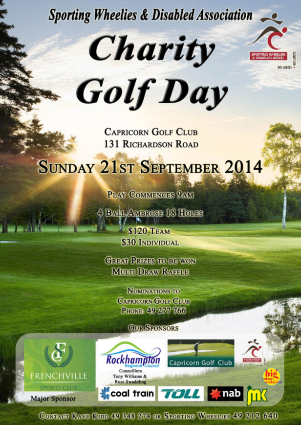 2014 Charity Golf Day Poster