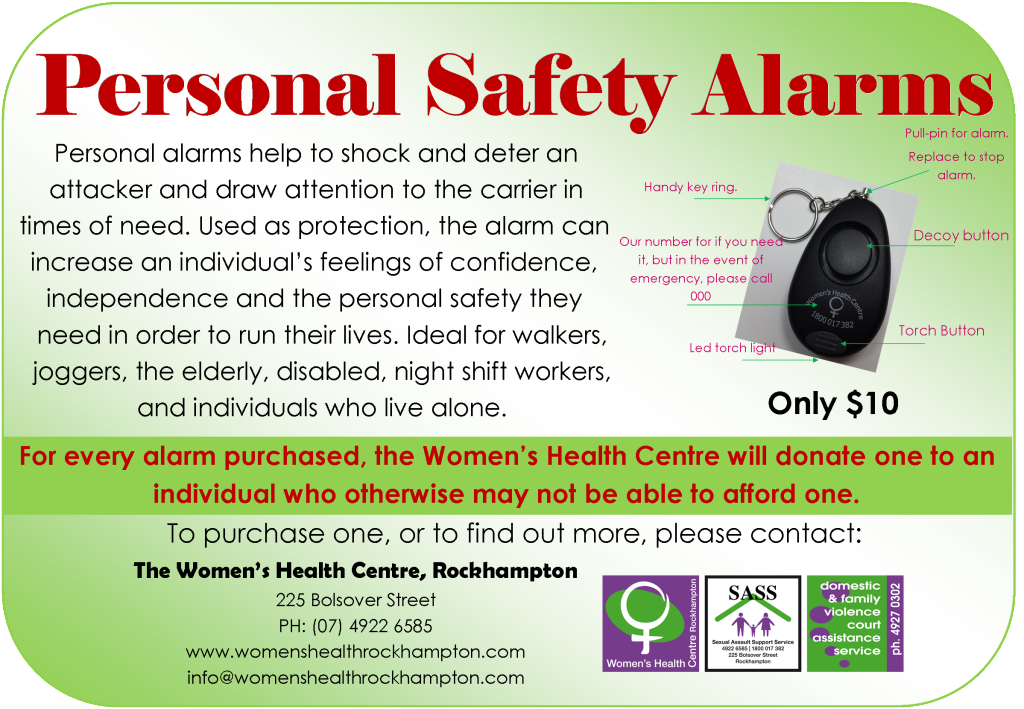 Personal Safety Alarm Poster
