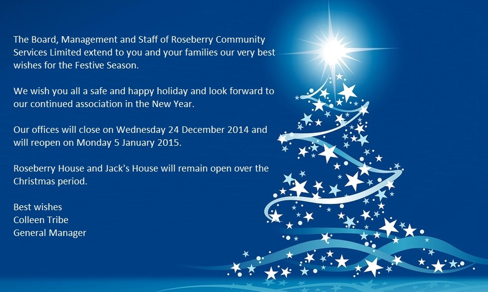 Roseberry community services limited office closure and christmas roseberryxmas m4hsunfo